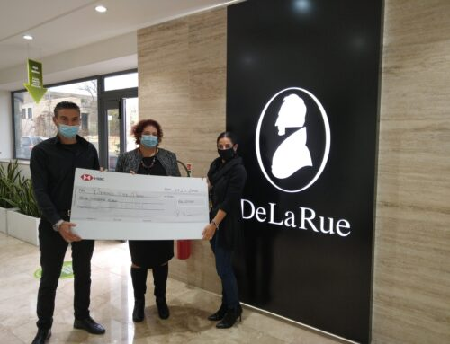 De La Rue Malta Continues to Support Beyond the Moon Children's Charity with a €4,000 Donation
